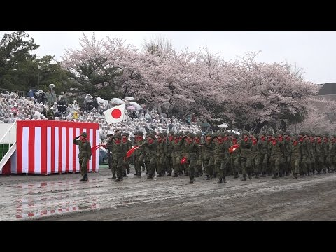 雨の中の観閲行進 -陸上自衛隊練馬駐屯地 平成29年創設記念行事
