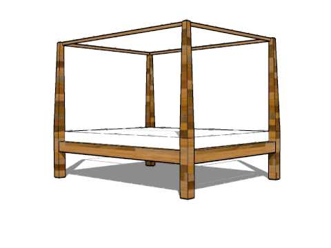 How to make a platform bed guide. 4 poster bed design - YouTube