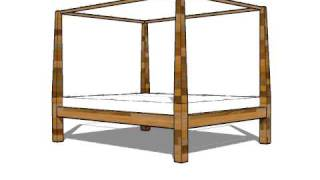 How To Make A Platform Bed Guide. 4 Poster Bed Design