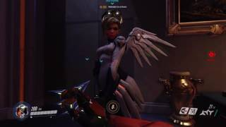 Overwatch: Genji chatting up Mercy