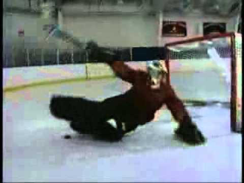 HILARIOUS FUNNY HOCKEY TRAINING VIDEO Robert Esche of Philadelphia Flyers Goaltender