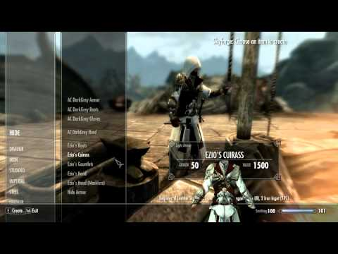 Skyrim Assassin's Creed Ezios Armor