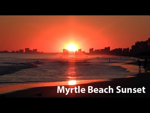 Myrtle Beach Sc Beautiful Rare East Coast Sunset 1080p Hd