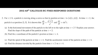 2012 ap calculus bc free response question 2