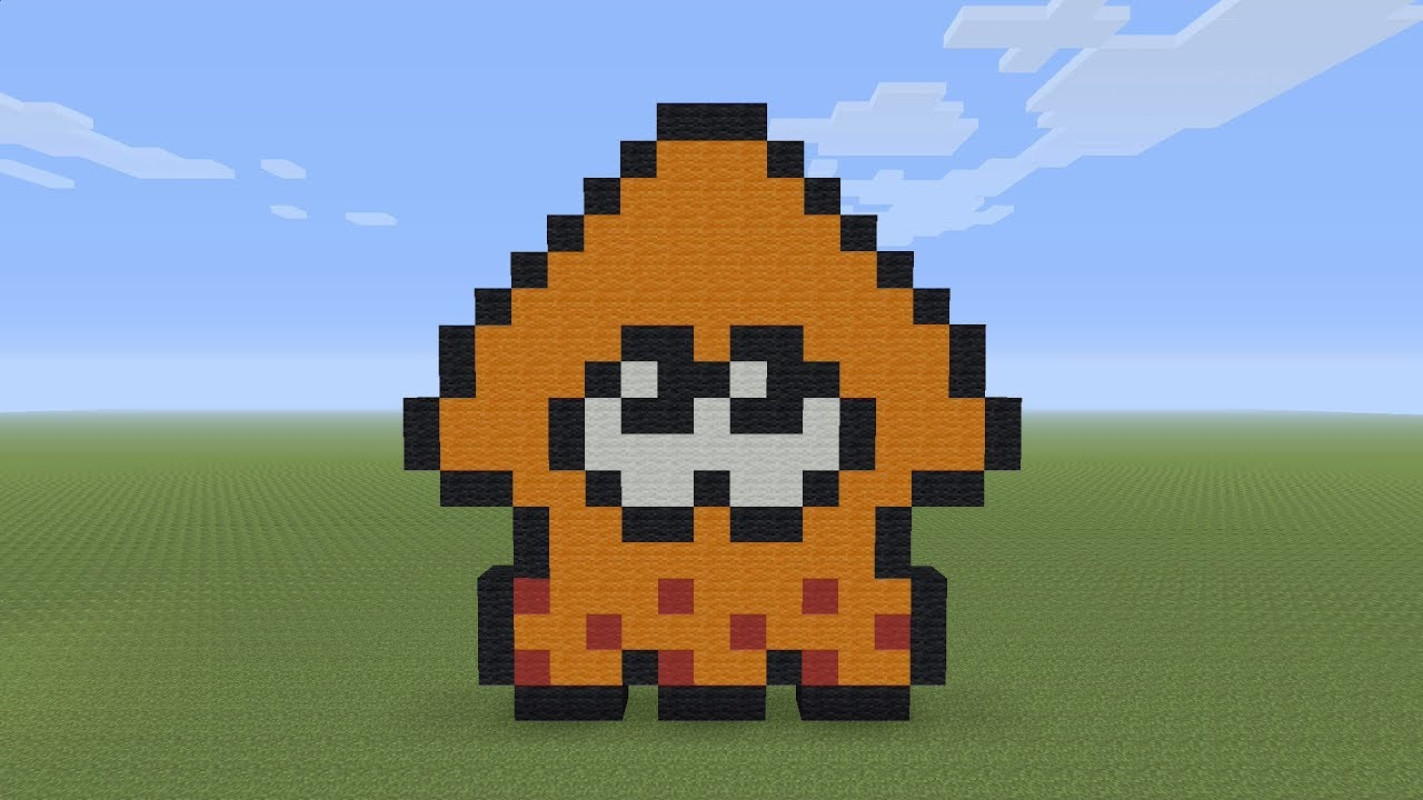 Minecraft Pixel Art Splatoon Squid