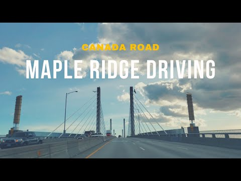 [4K] Driving Maple Ridge BC Canada - Driving TourㅣCanada Road, 4K Virtual Tour