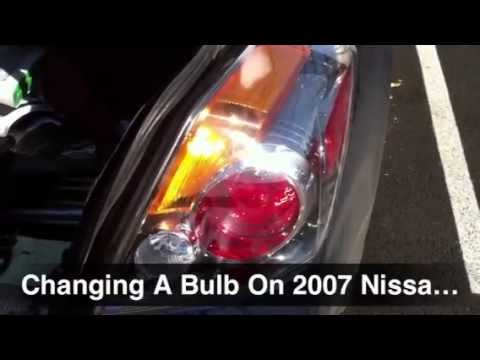 Replacing Changing A Brake Light Turn Signal Tail On 2002 2017 Nissan Altima Hybrid You