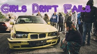 GIRLS DRIFT FAILS // How not to drift by Polish Drift Girls // Crash and spin compilation