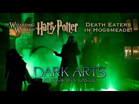 DEATH EATERS At Wizarding World Of Harry Potter   Dark Arts At Hogwarts Castle Universal Orlando