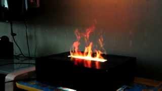 3D Камин самодельный(Очень реалистичная имитация огня при помощи водяного пара и подсветки. Godaleks@yandex.ru., 2014-08-29T20:06:07.000Z)