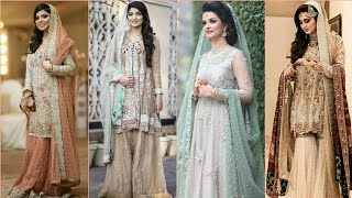 Gorgeous Fabulous And Trendy Engagement And Nikah Bridal Dress Collection