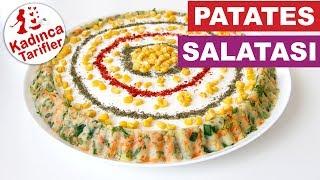 Patates Salatası Tarifi | Yoğurtlu Mayonezli Patates Salatası Tarifi | Kadınca Tarifler