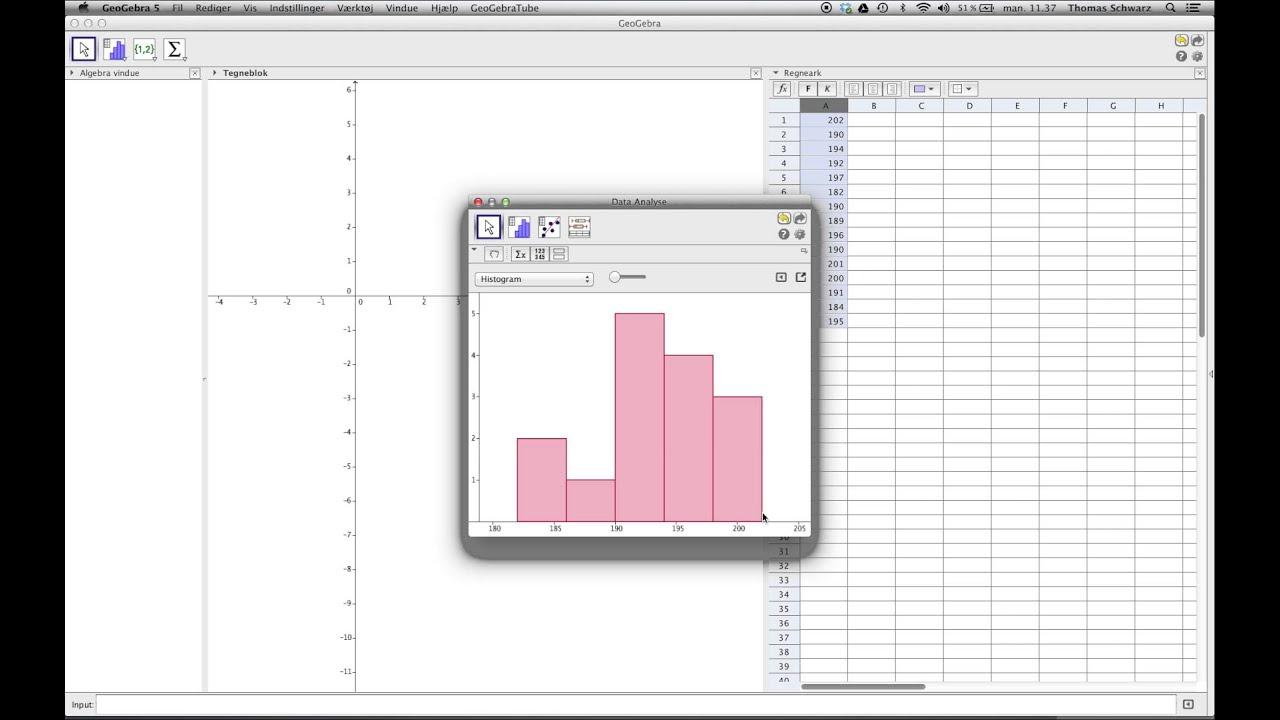 FlipTheClassroom - Statistik på en rå mængde data i GeoGebra