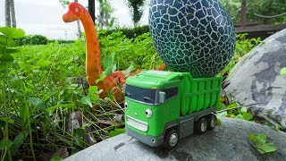 Dinosaur Walking and Laying Eggs Tayo The Little Bus Toys for Children Songs