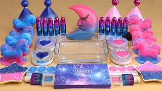 &quotMOON&quot Mixing&#39PinkBlue&#39 Eyeshadow,Makeup more GLITTER  Into Slime.ASMRSatisfying Slime Video