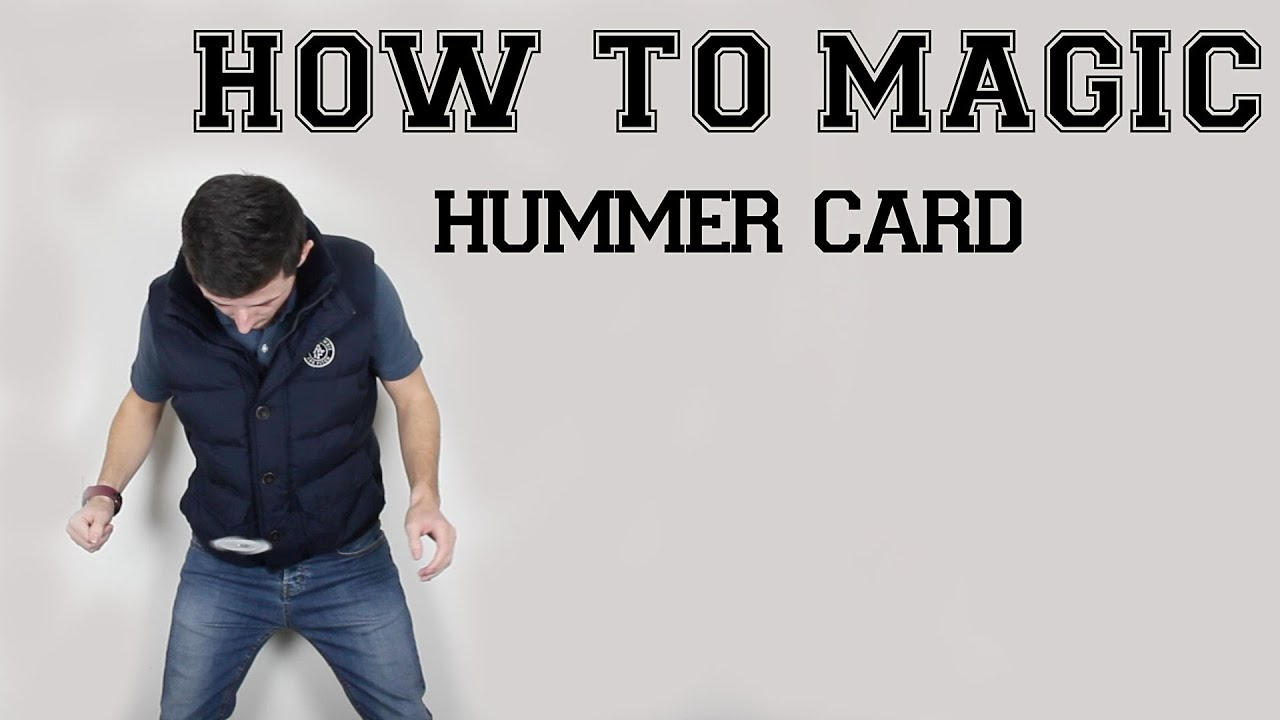 FLOATING MAGIC TRICK | HUMMER EASY CARD TRICK | hummer card