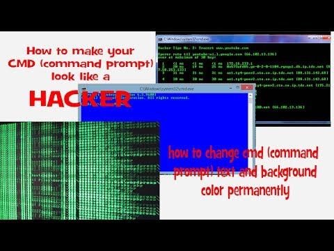 how to change command prompt text and background color