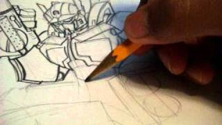 How to draw ROTF OPTIMUS PRIME Transformers Animated style part 3A