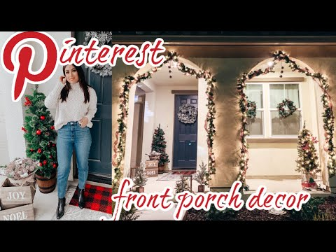 PINTEREST CHRISTMAS Front Porch DECORATE WITH ME 2019