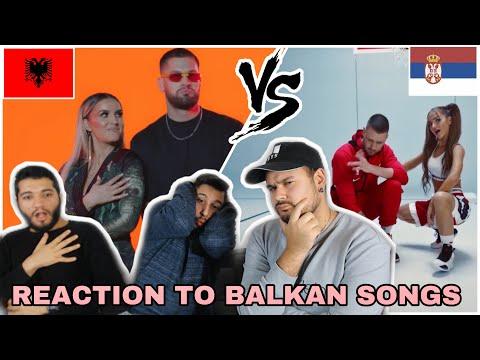 Reaction to Balkan Songs: Fatima Ymeri ft Trimi -Amore (Albania) vs. CVIJA X TEODORA -NOKAUT(Serbia)