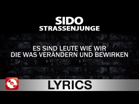 SIDO - STRASSENJUNGE - AGGROTV LYRICS KARAOKE (OFFICIAL VERSION)