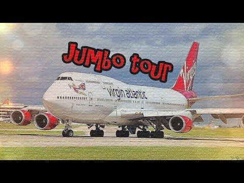    Virgin Atlantic      Full 747 Jumbo Tour    Cockpit, 1st Class, Upstairs    Pretty Woman G-VROY