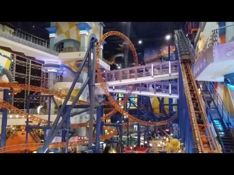 Rollercoaster inside Berjaya Times Square Mall (Kuala Lumpur, Malaysia)