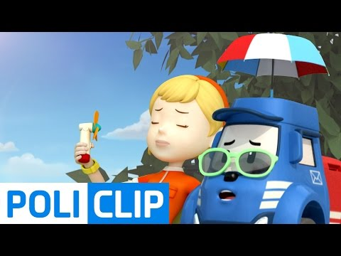 Thumbnail: The weather is so hot!! | Robocar Poli Clips