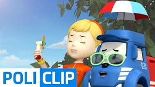 The Weather Is So Hot!! | Robocar Poli Clips