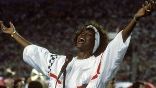 Whitney Houston National Anthem Super Bowl Performance Video 1991(Remembering Whitney Houston who died at age 48. The singer's unforgettable live performance of the star spangled banner at Super Bowl XXV in Tampa ..., 2012-02-13T00:13:01.000Z)
