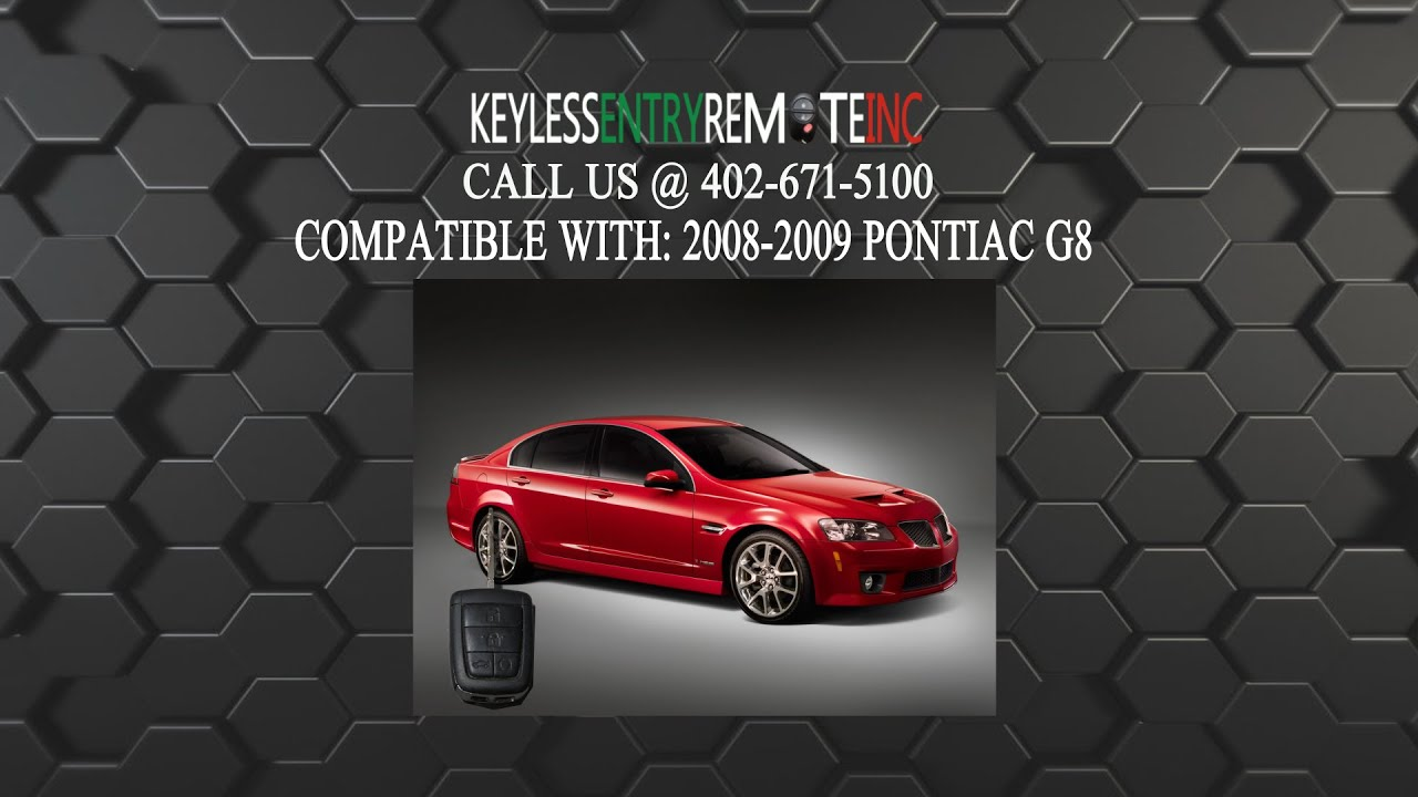 How To Replace Pontiac G8 Key Fob Battery 2008 2009 Youtube
