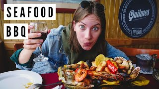 ARGENTINE SEAFOOD BBQ FEAST on the Pier in Mar del Plata, Argentina