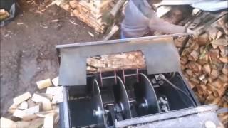 Самодельные машины для пилки и колки дров