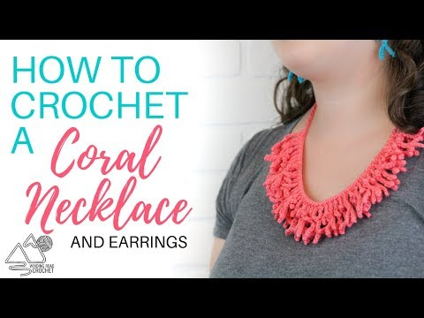 How to Crochet a Coral Necklace Step by Step Tutorial