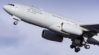 Republic of Korea Air Force Airbus A330 MRTT Departure from Calgary Airport