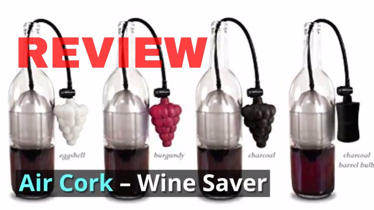 4 Colors - Sold by Air Cork as seen on Shark Tank Air Cork Wine Preserver