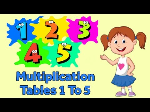 Multiplication Tables 1 To 5 Multiplication Songs For Kids Fun