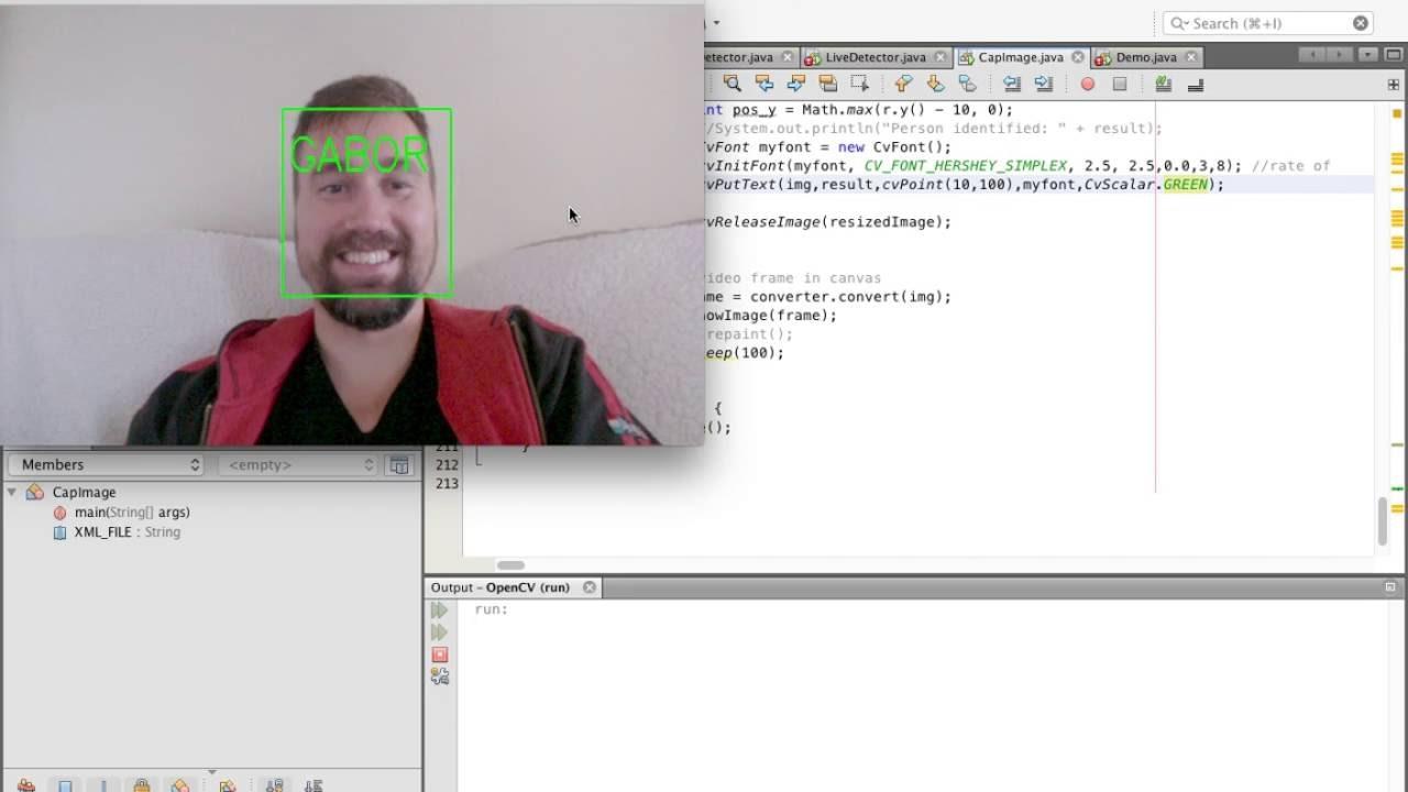 Face Recognizer in JAVA using OpenCV (JavaCV)