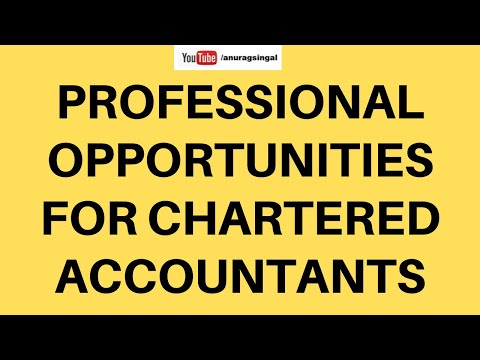 Professional Opportunities for Chartered Accountants
