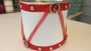 DIY Holiday Drum Centerpiece - Christmas Crafts