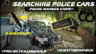 Searching Police Cars Found Rambos Knife! Crown Victoria Interceptor