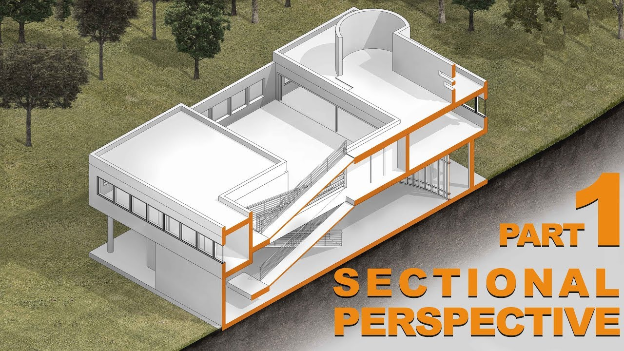 Sectional Perspective | architectural section Revit to ...