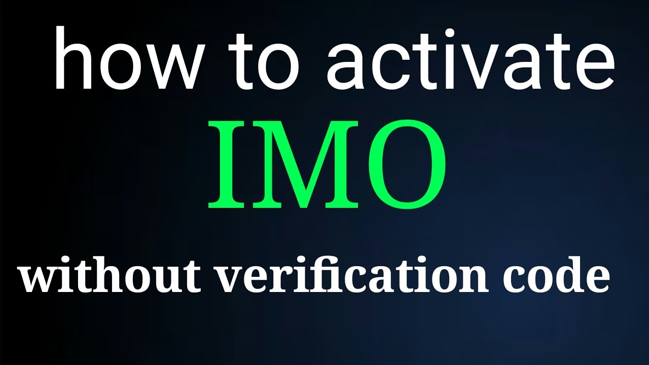 How to active IMO without cod by Aall Tips