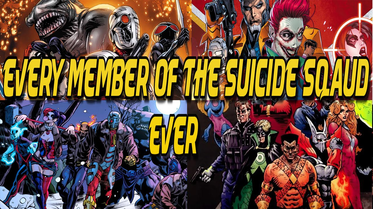 Every Member Of The Suicide Squad (To Date) - YouTube