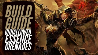 Diablo 3 - Demon Hunter Build Guide Unhallowed Essence Grenades