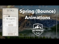 How to Make Animations Bounce (Spring Animations) (iOS, Xcode 8, Swift 3)