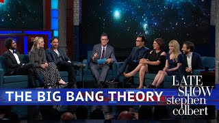 The cast of 'The Big Bang Theory' sits down with Stephen after the ...