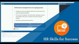 Hr skills for success: performance management in the workplace