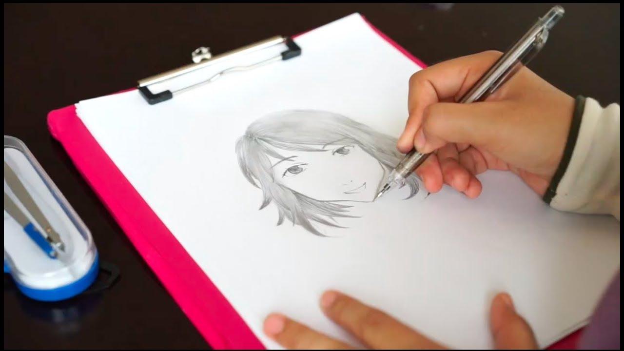 Langkah Langkah Menggambar Wajah Kartun Jepang Youtube