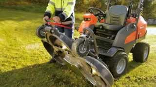 Learn how to set up the Husqvarna P 525D Front Mower in the service position